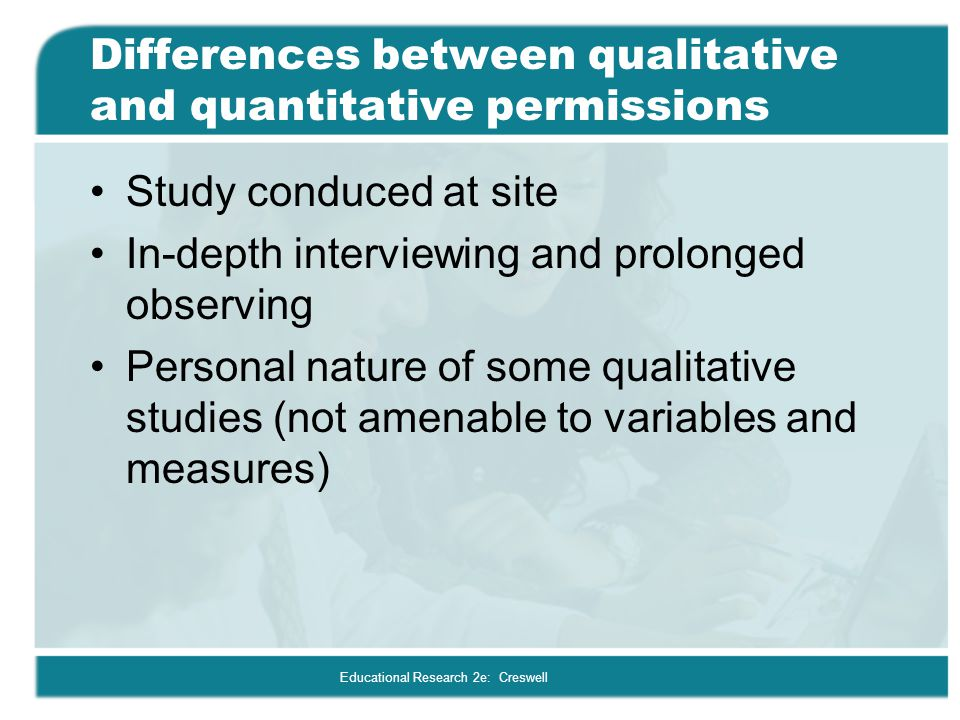 Differences between qualitative and quantitative permissions