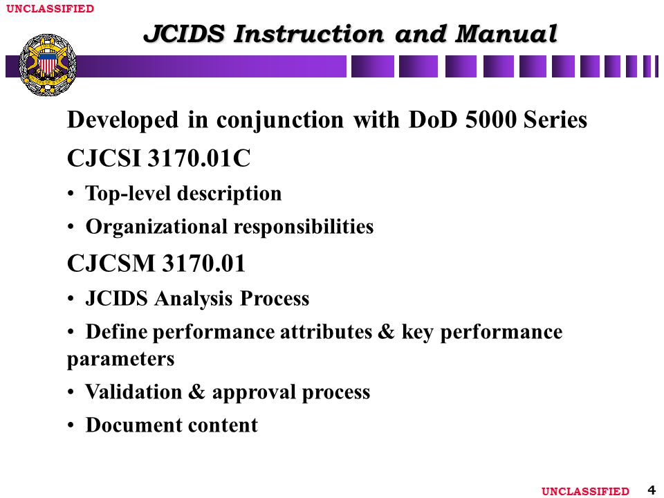 JCIDS Instruction and Manual