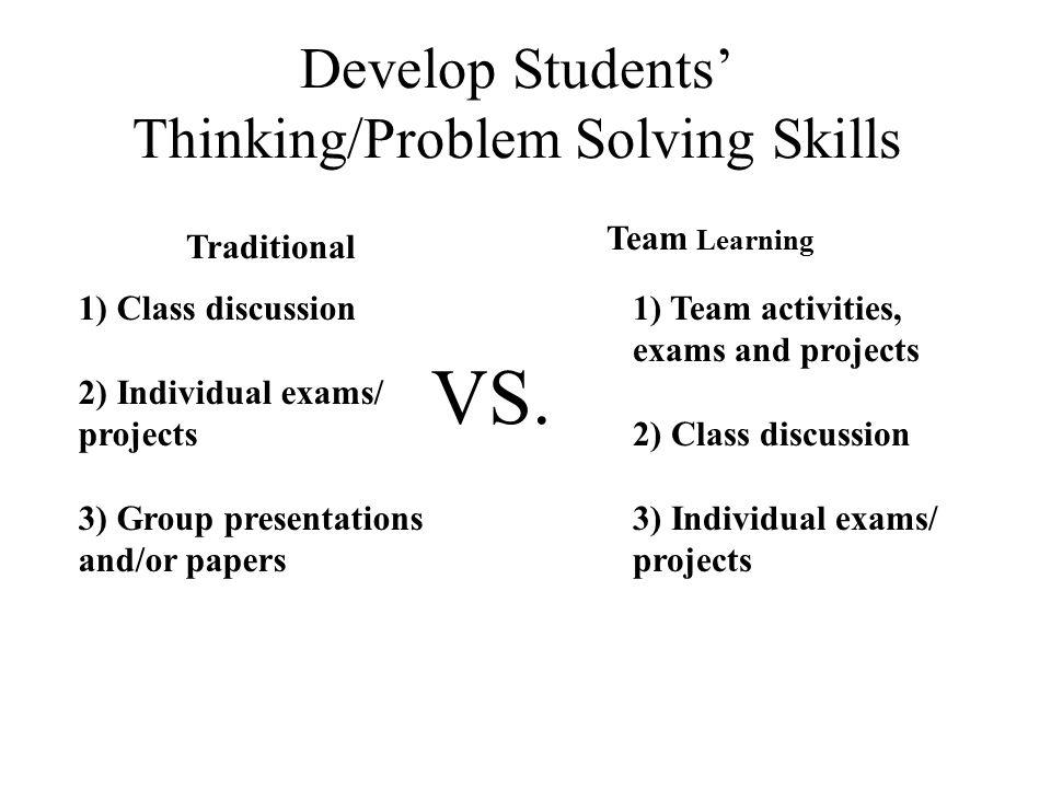 Develop Students' Thinking/Problem Solving Skills