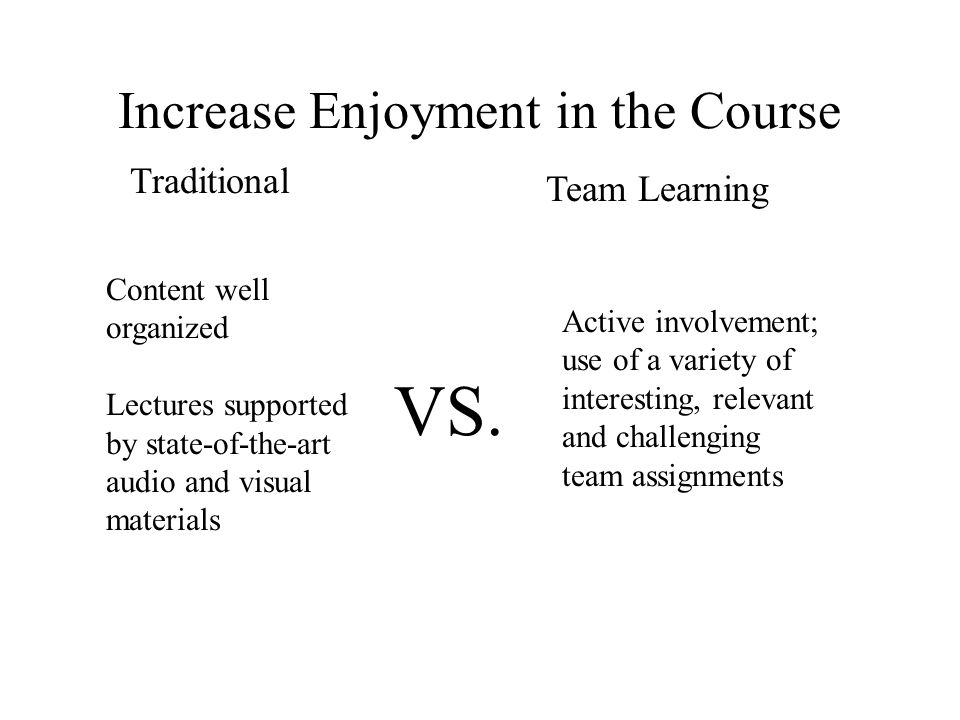 Increase Enjoyment in the Course