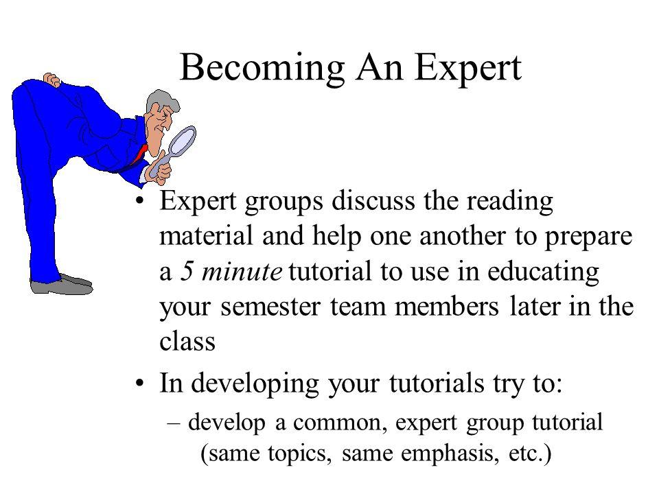 Becoming An Expert