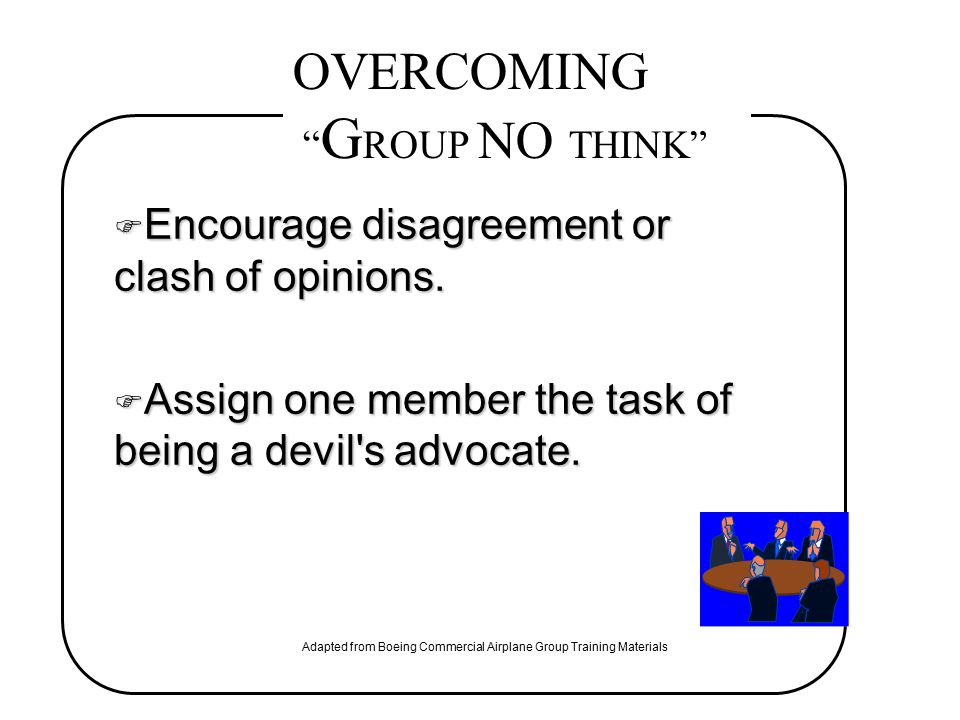 OVERCOMING GROUP NO THINK