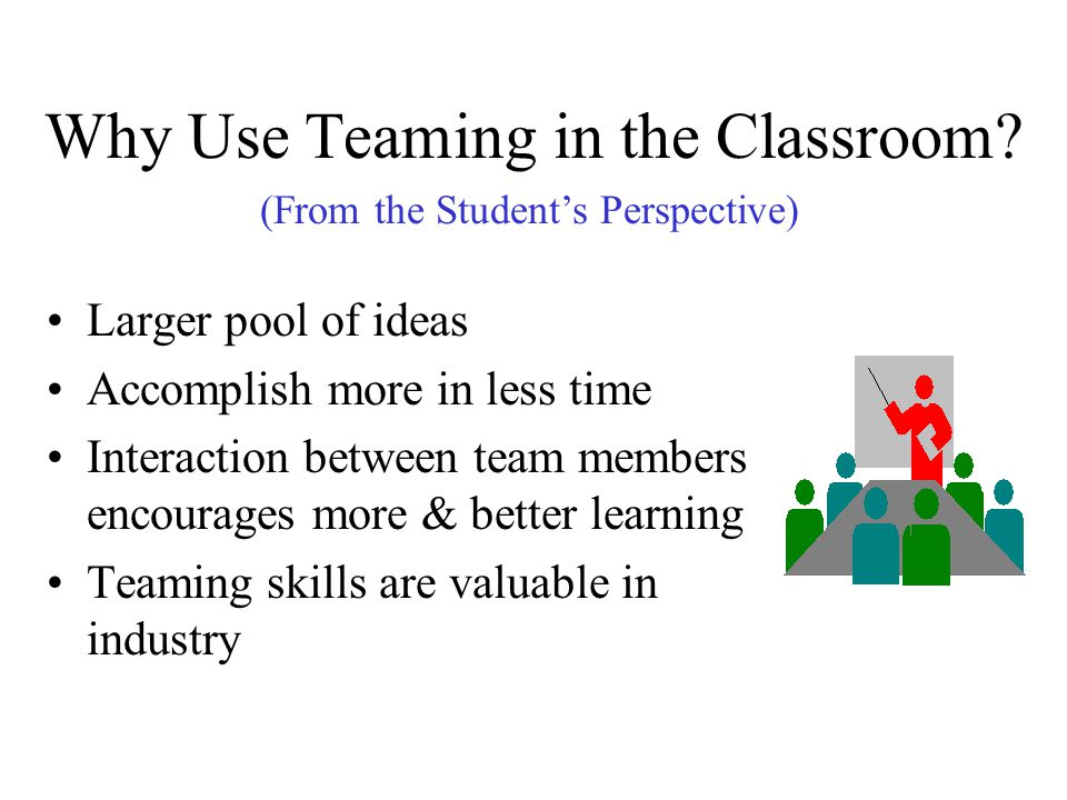 Why Use Teaming in the Classroom
