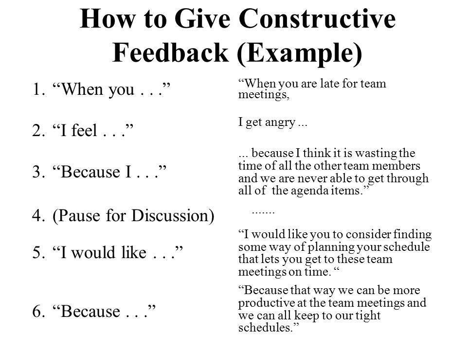 How to Give Constructive Feedback (Example)