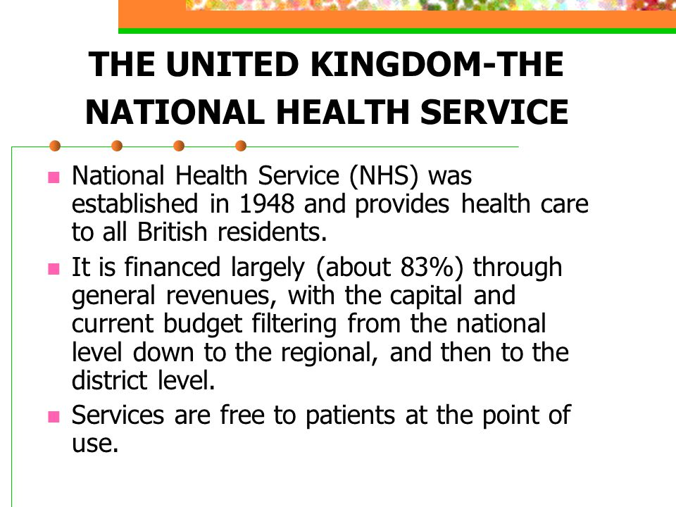 THE UNITED KINGDOM-THE NATIONAL HEALTH SERVICE