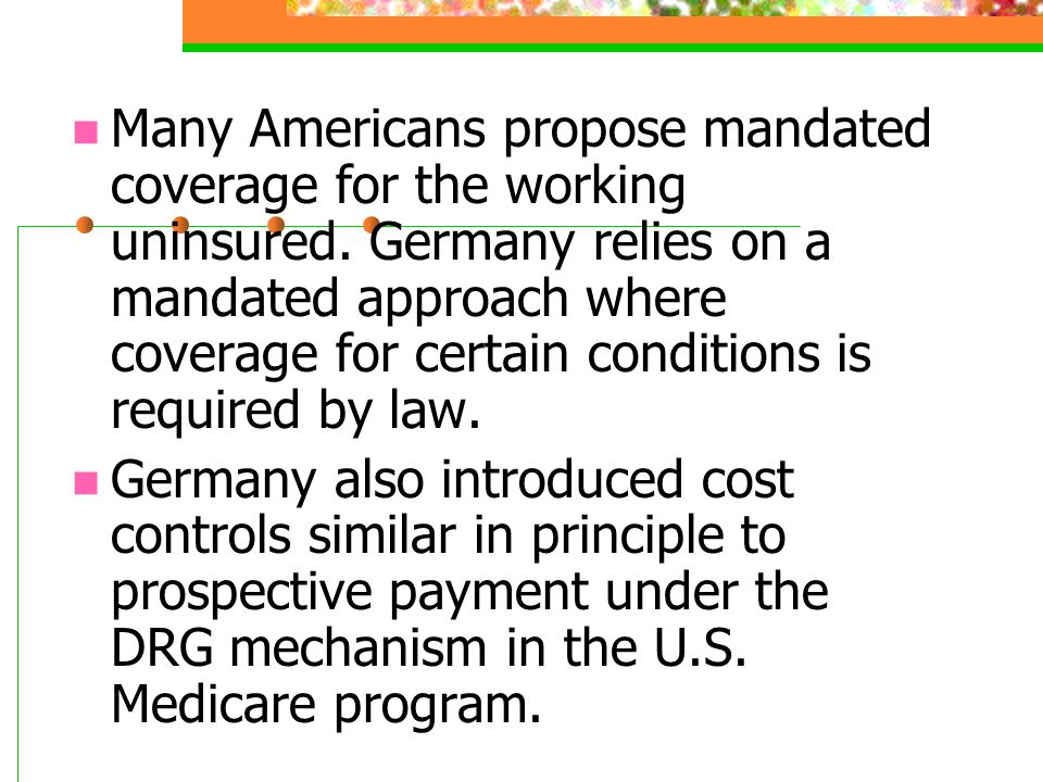 Many Americans propose mandated coverage for the working uninsured