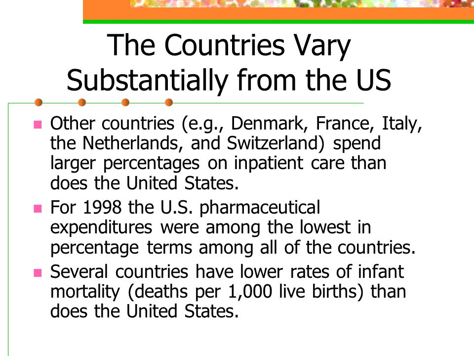 The Countries Vary Substantially from the US