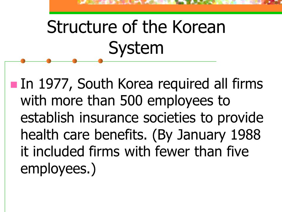 Structure of the Korean System