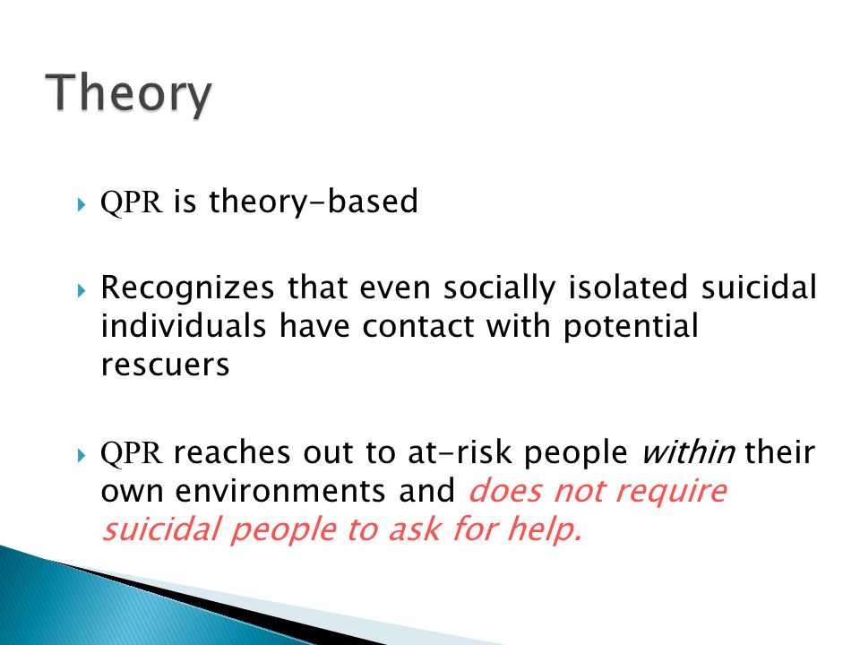 Theory QPR is theory-based