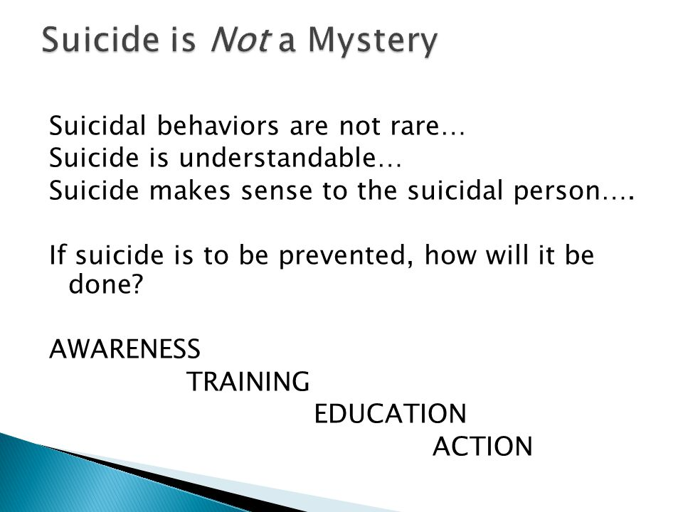 Suicide is Not a Mystery