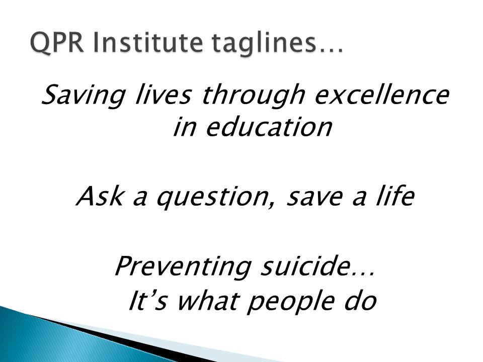QPR Institute taglines…