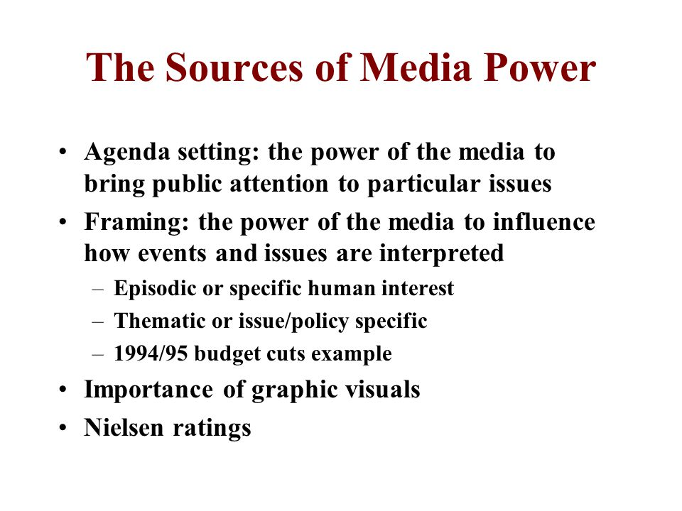 The Sources of Media Power
