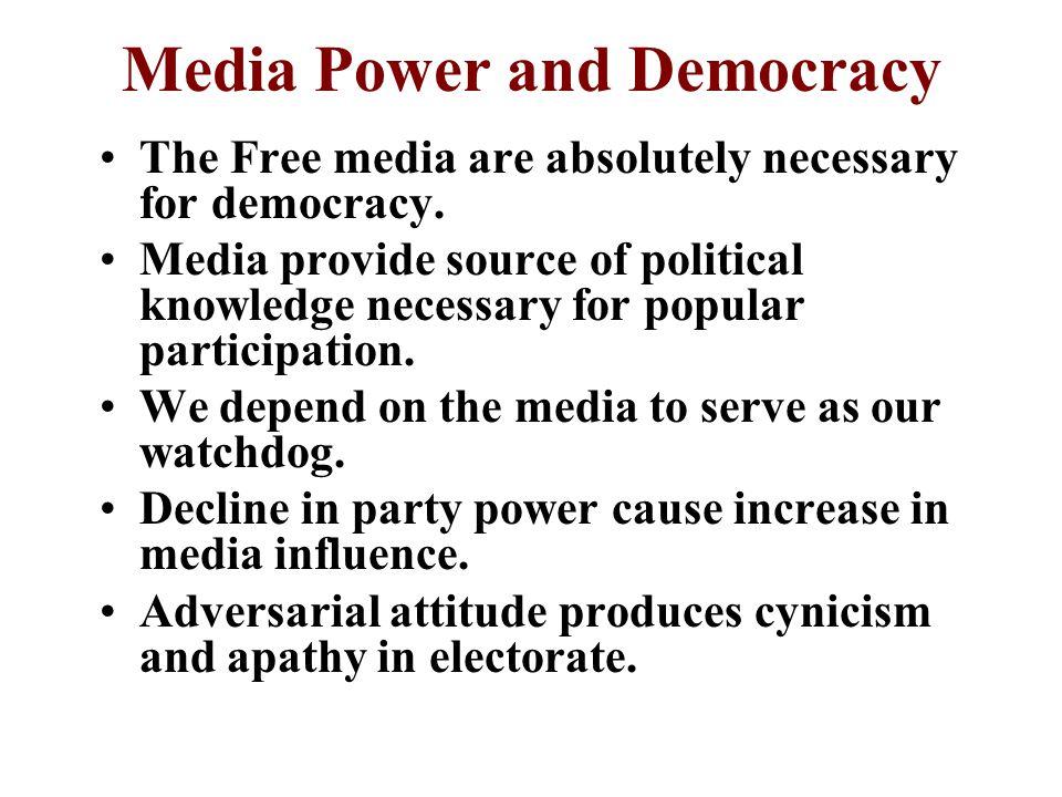 Media Power and Democracy