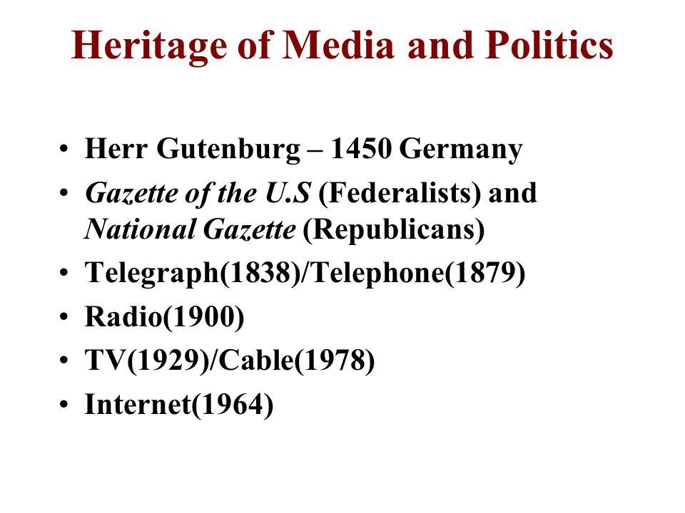 Heritage of Media and Politics