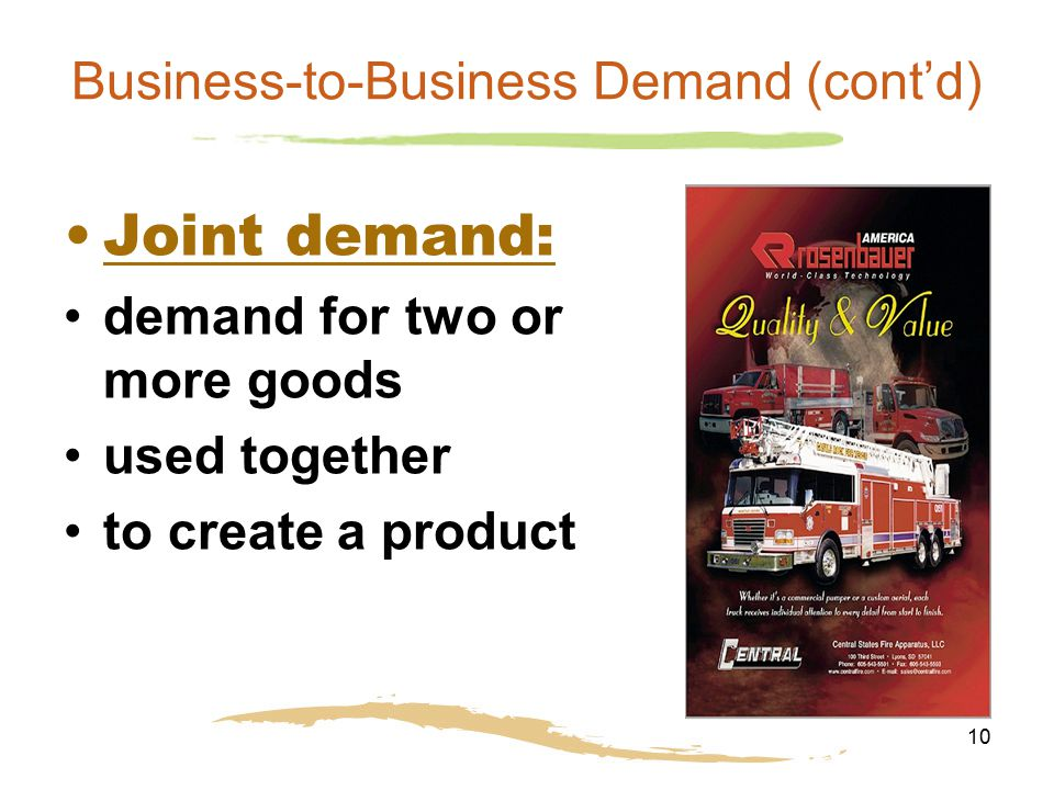 Business-to-Business Demand (cont'd)