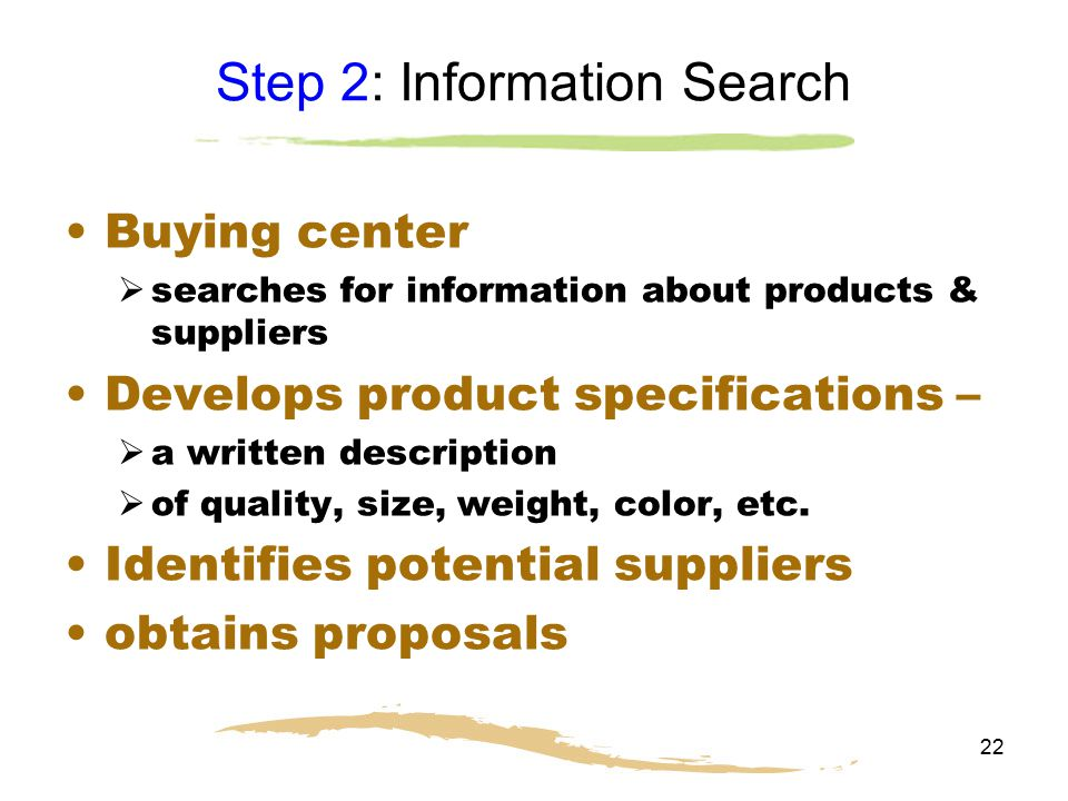 Step 2: Information Search