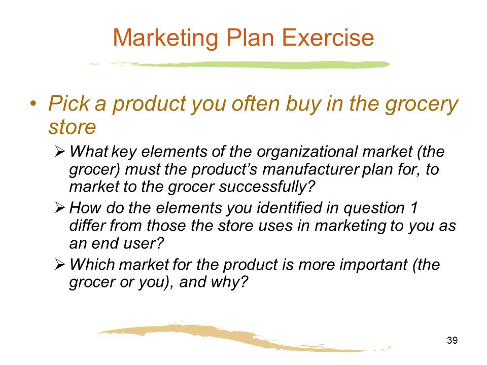 Marketing Plan Exercise