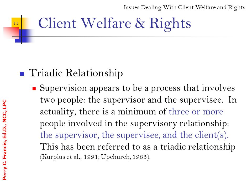 Client Welfare & Rights