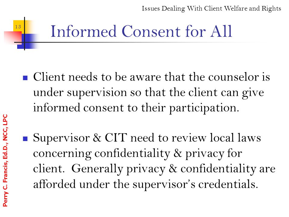 Informed Consent for All