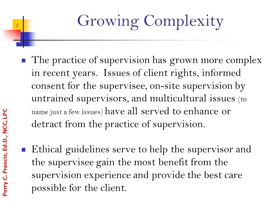 Growing Complexity