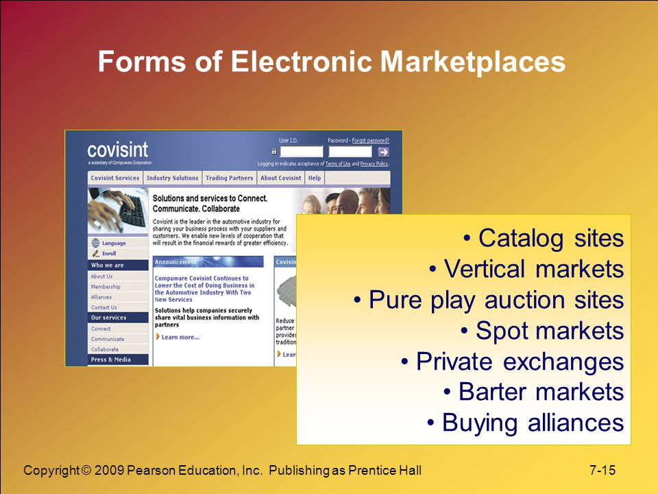 Forms of Electronic Marketplaces