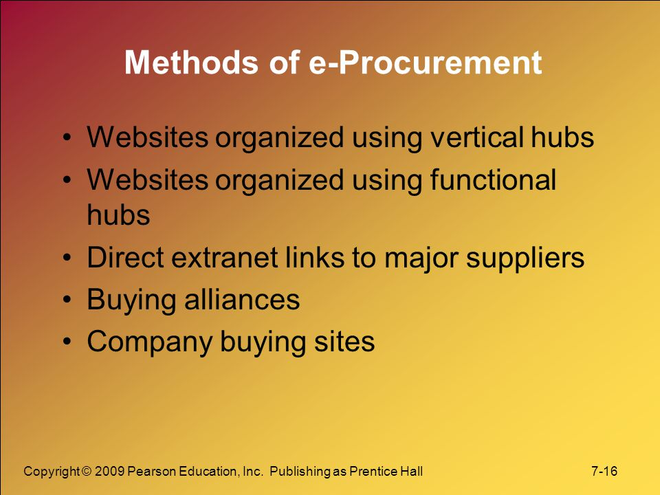 Methods of e-Procurement
