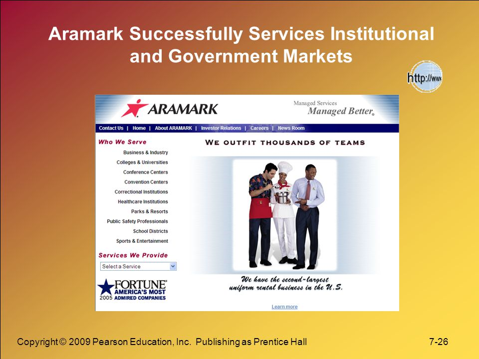 Aramark Successfully Services Institutional and Government Markets