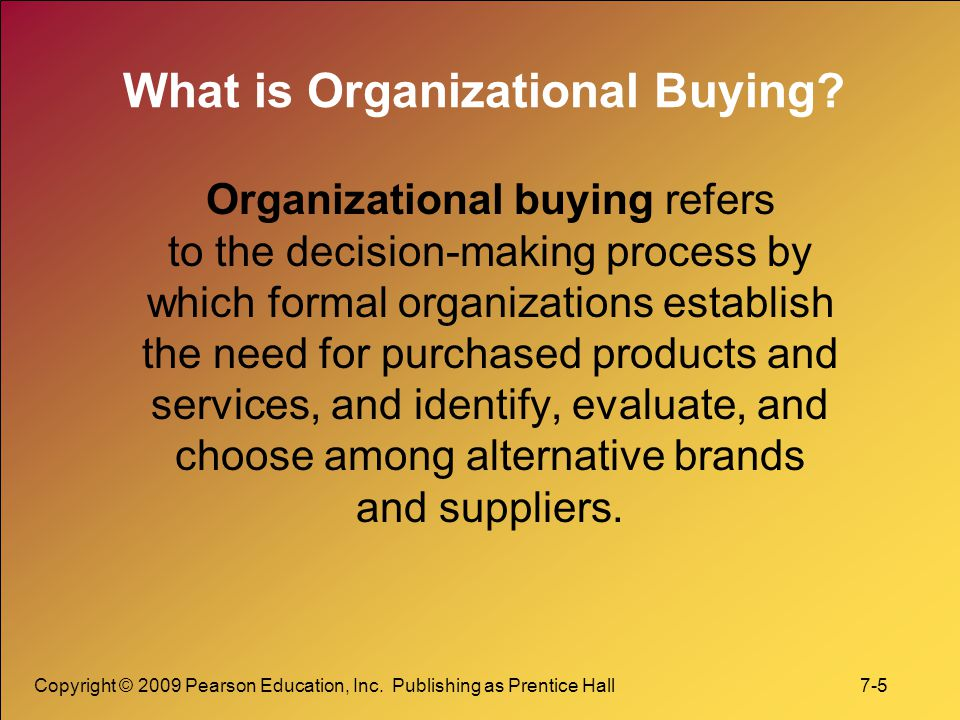 What is Organizational Buying