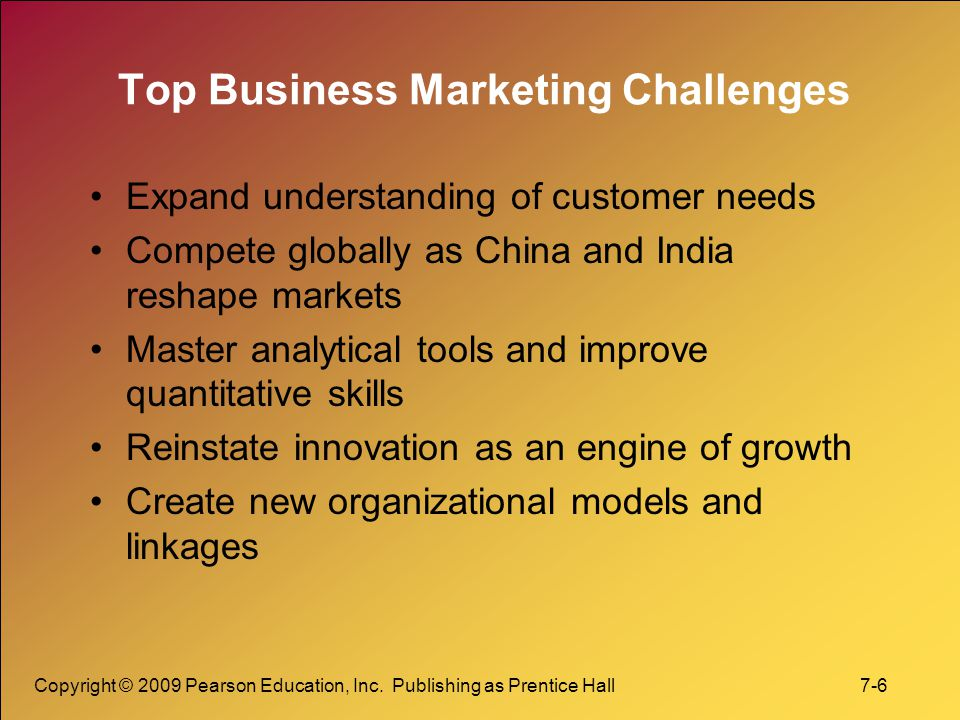 Top Business Marketing Challenges