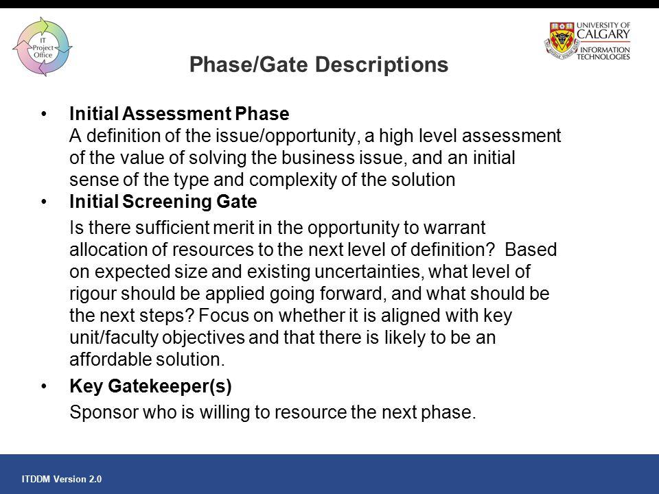 Phase/Gate Descriptions