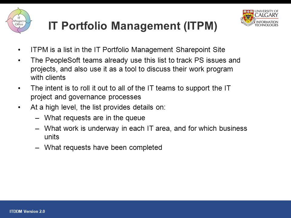 IT Portfolio Management (ITPM)
