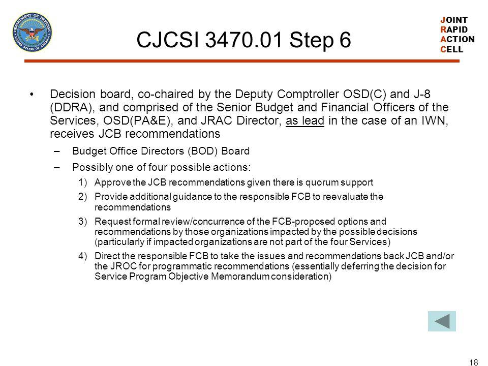 CJCSI 3470.01 Step 6