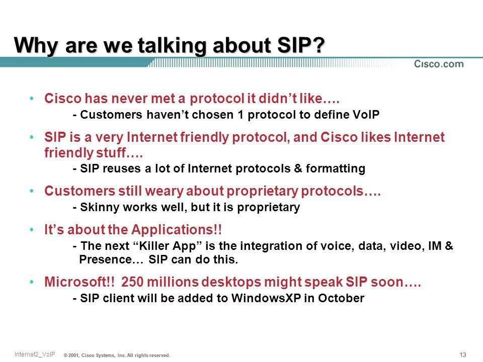 Why are we talking about SIP