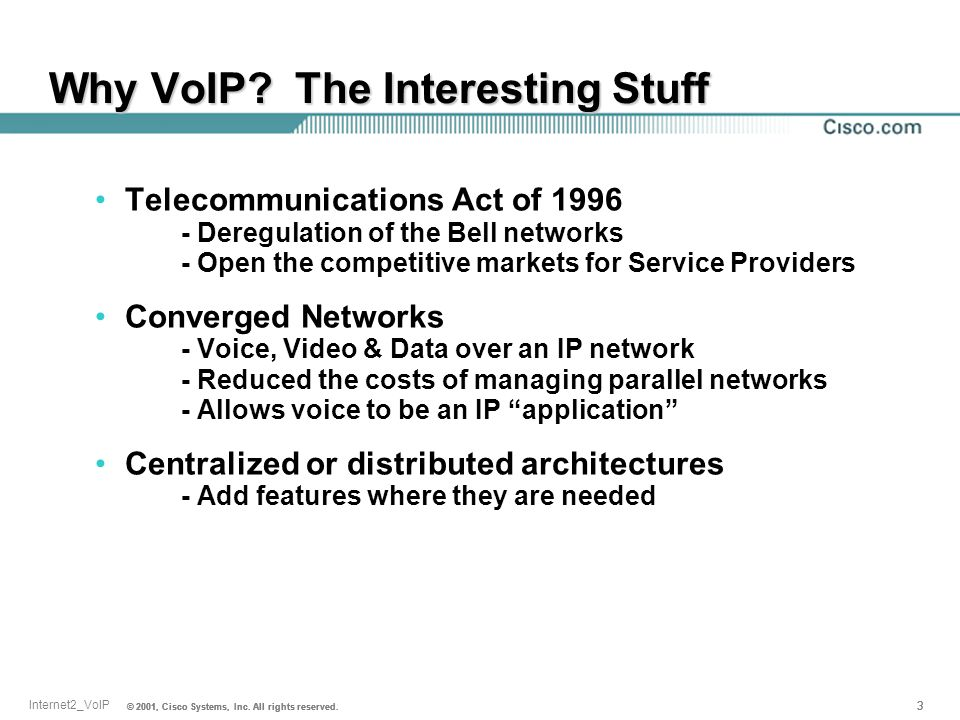Why VoIP The Interesting Stuff