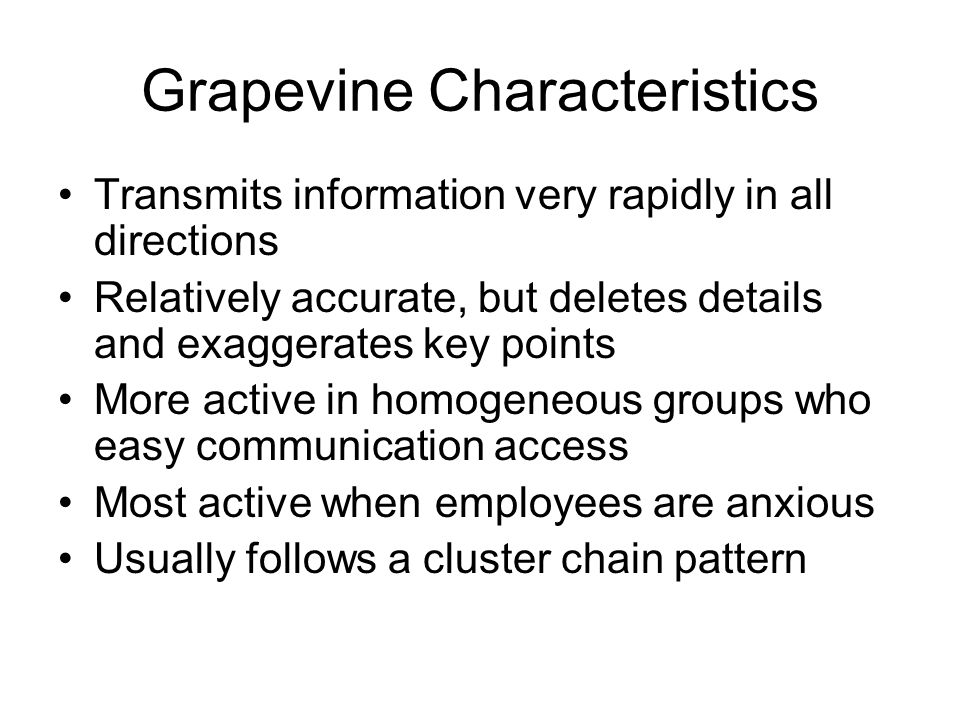 Grapevine Characteristics