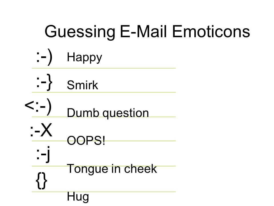 Guessing E-Mail Emoticons