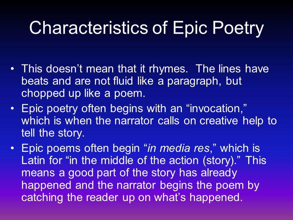 Characteristics of Epic Poetry
