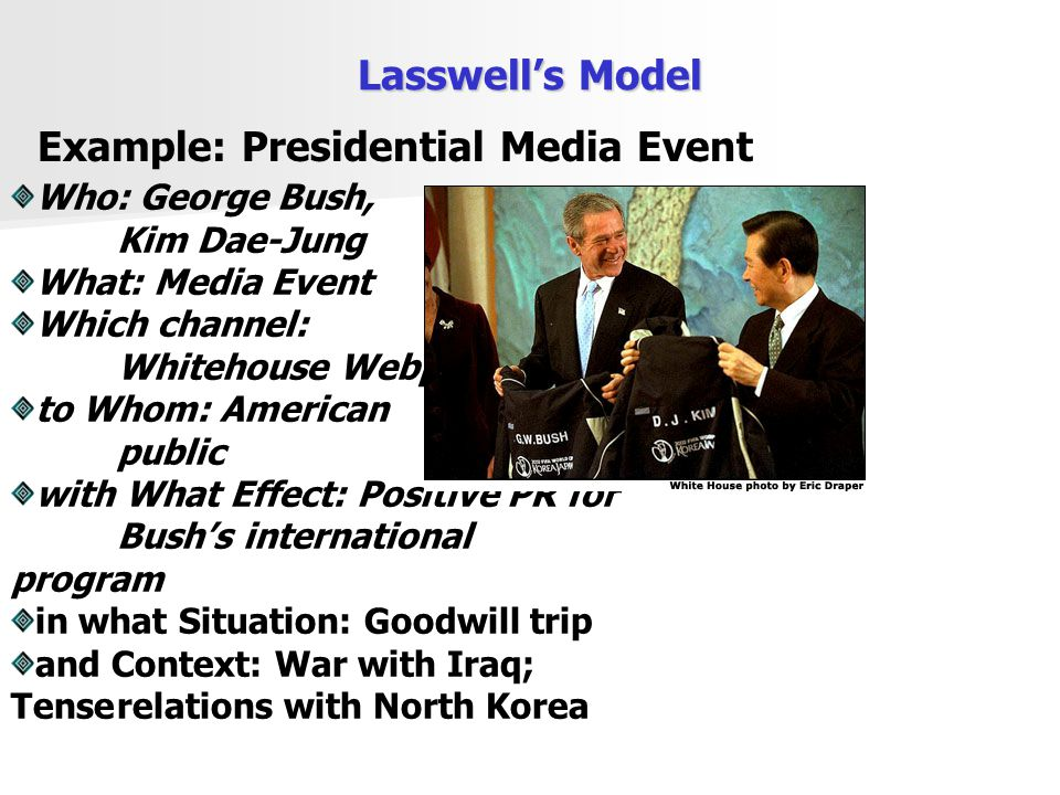Example: Presidential Media Event
