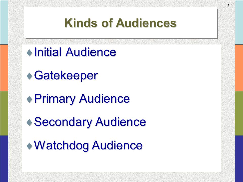P What are your purposes in writing A Who is (are) your audiences