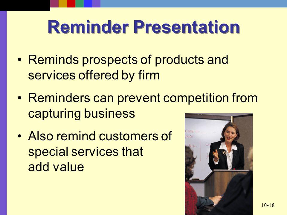Reminder Presentation