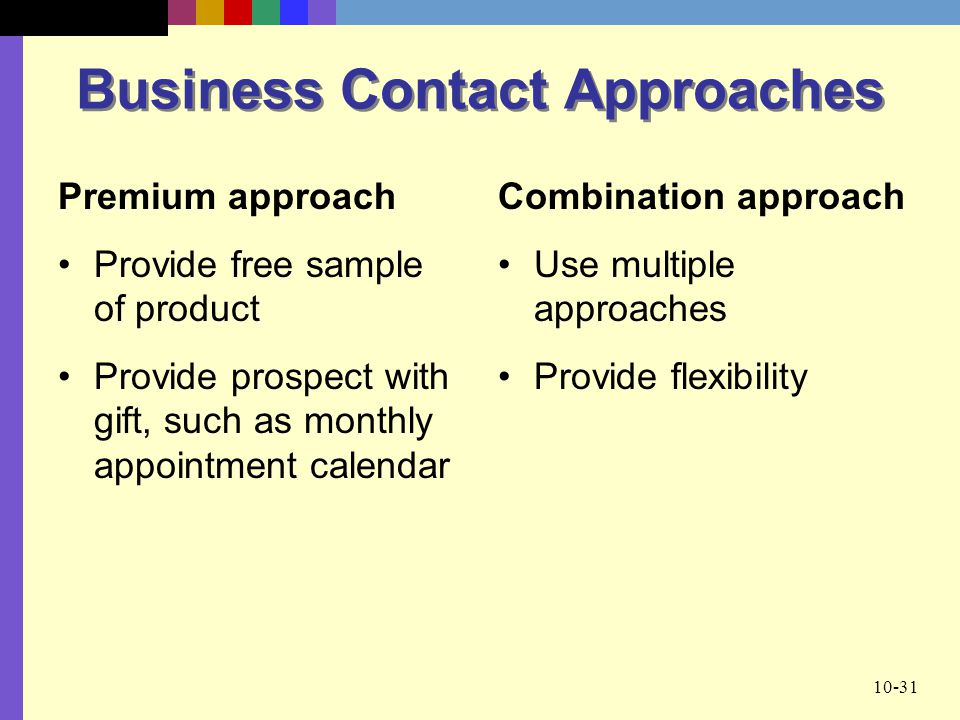 Business Contact Approaches