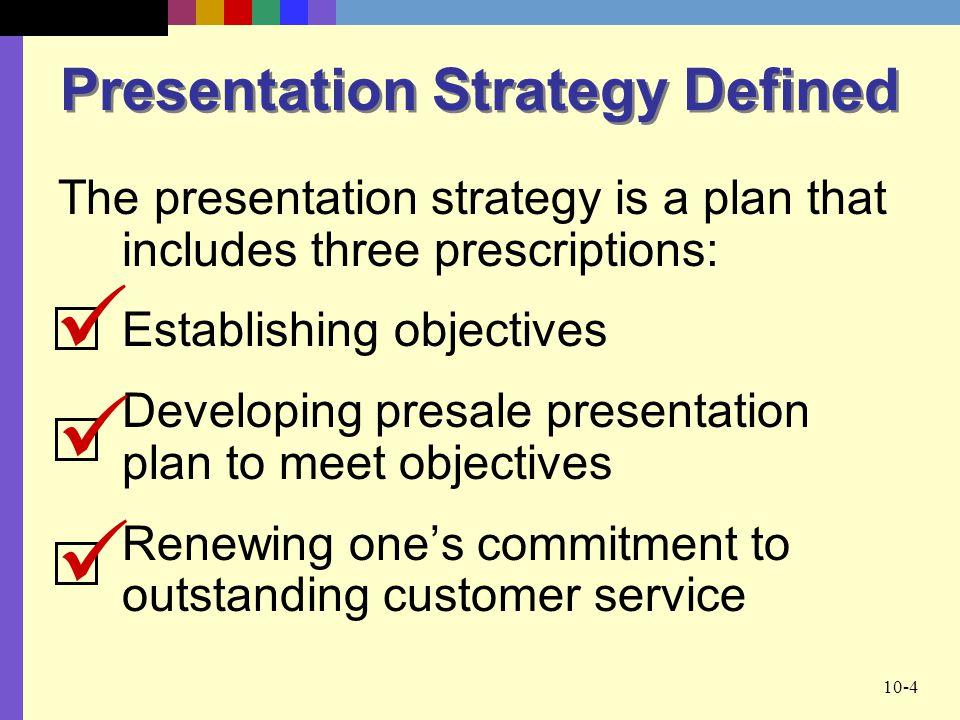 Presentation Strategy Defined