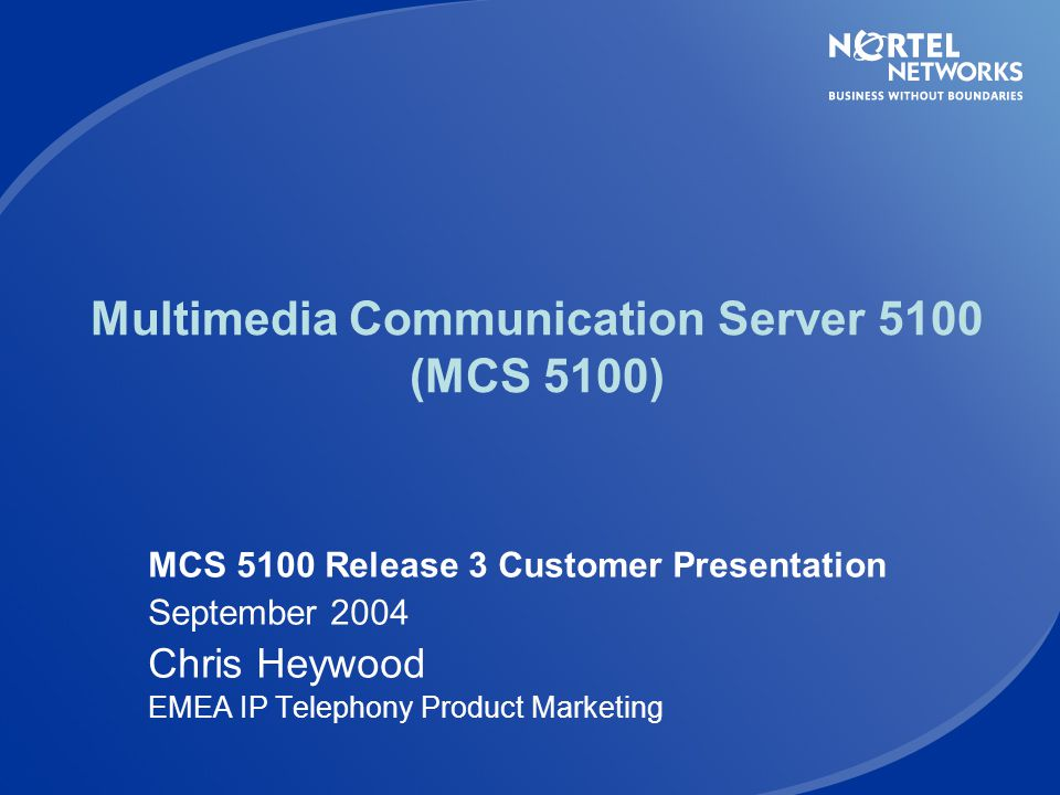 Multimedia Communication Server 5100 (MCS 5100)