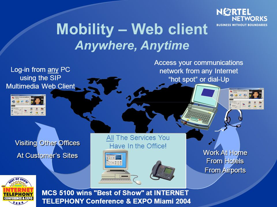 Mobility – Web client Anywhere, Anytime