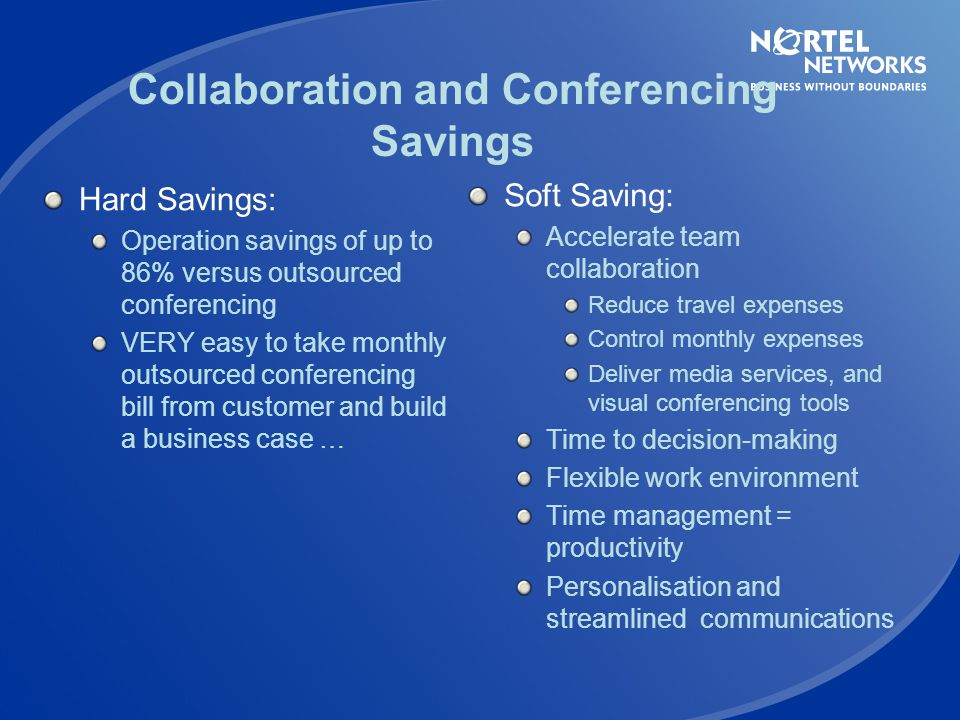 Collaboration and Conferencing Savings