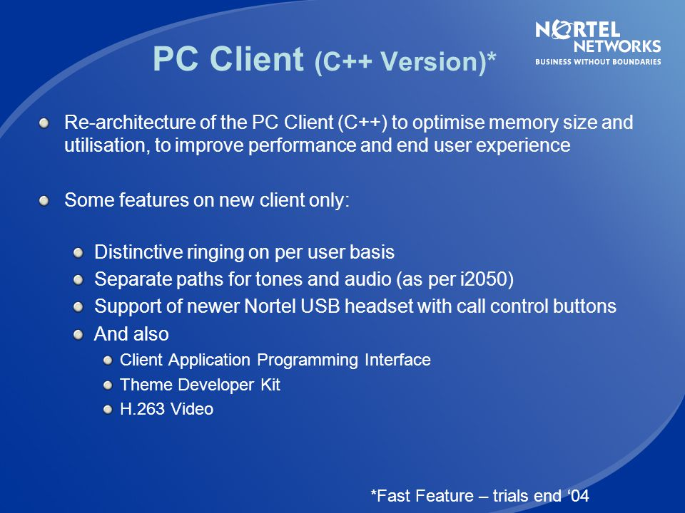 PC Client (C++ Version)*