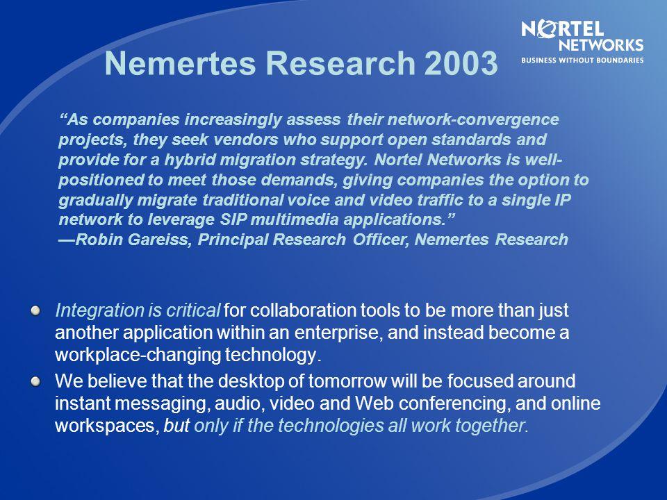 Nemertes Research 2003