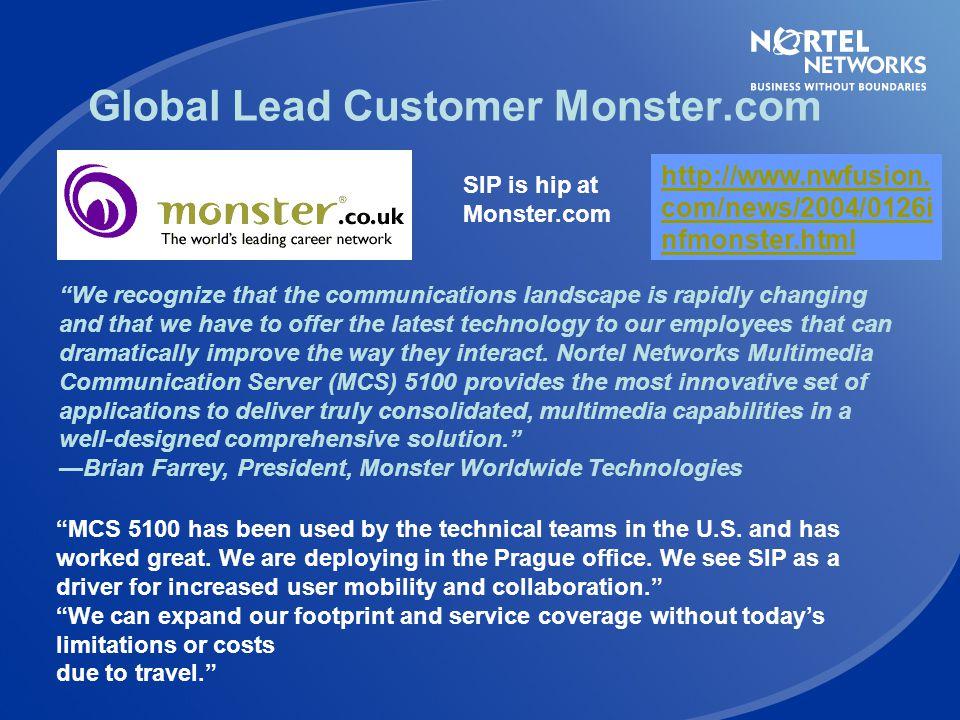 Global Lead Customer Monster.com