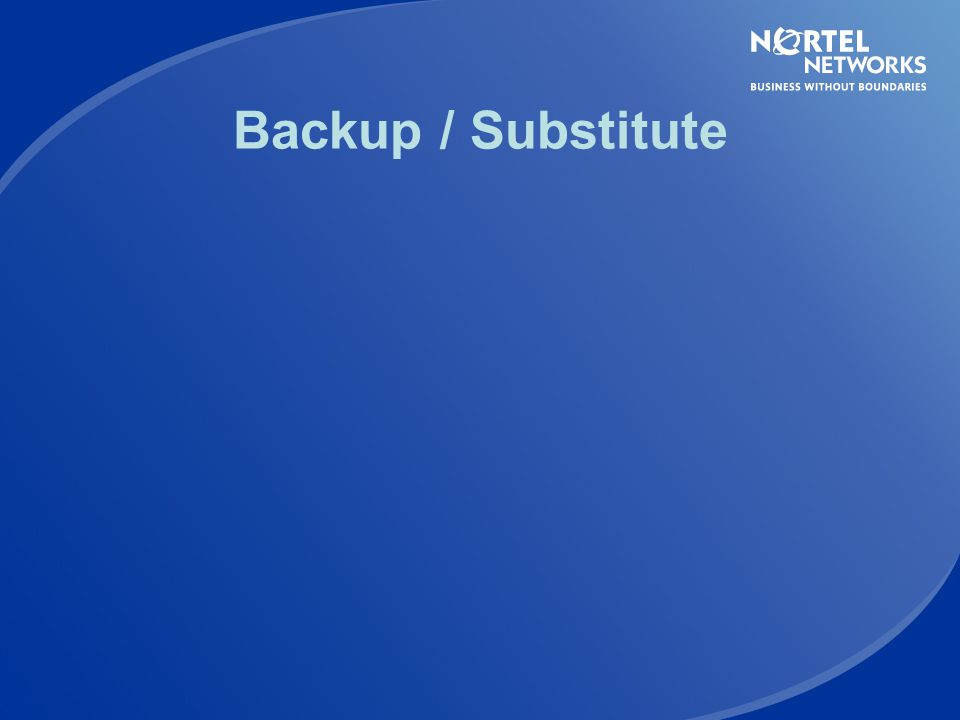 Backup / Substitute