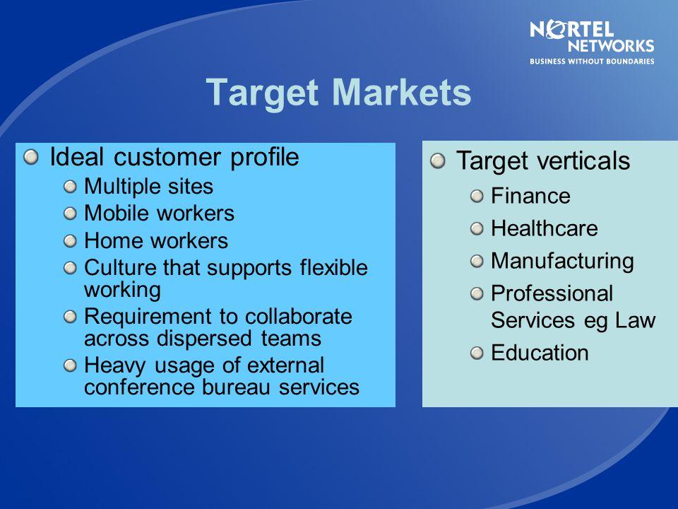 Target Markets Target verticals Ideal customer profile Multiple sites